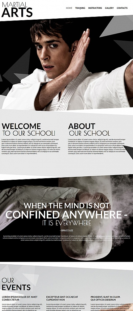ADOBE Photoshop Template 54750 Home Page Screenshot