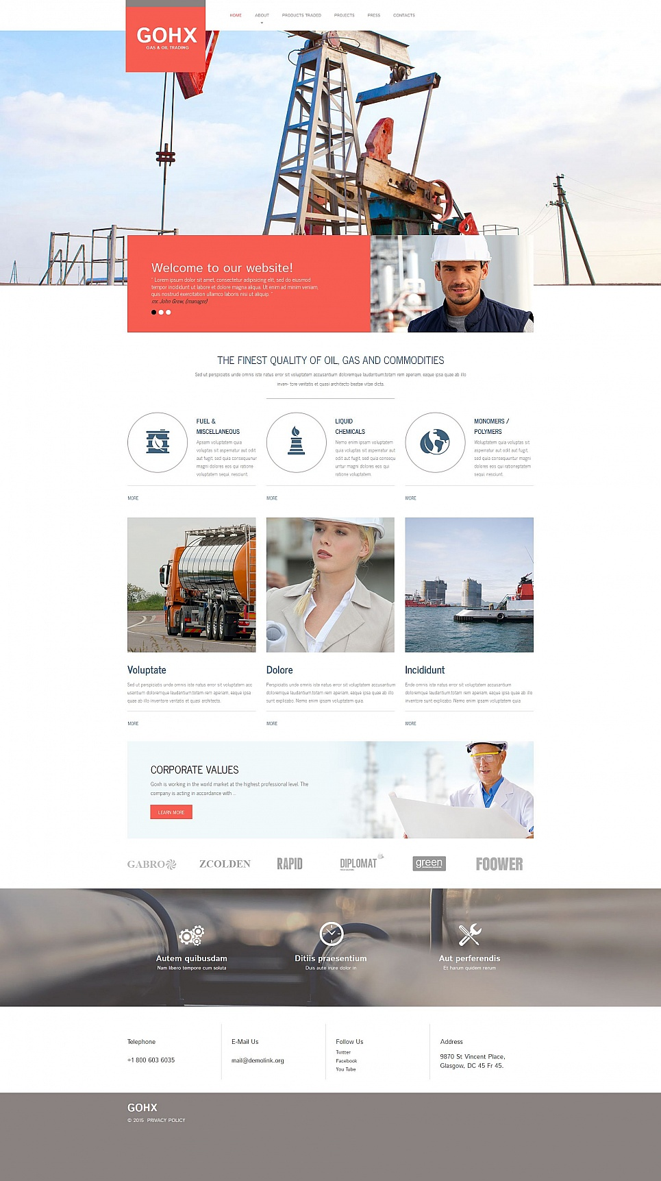 Site theme for industrial purposes