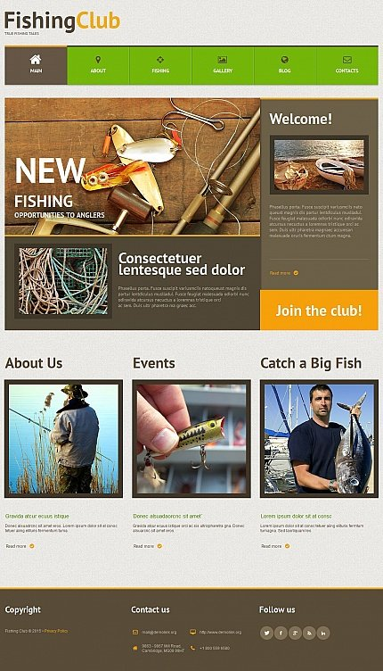 ADOBE Photoshop Template 54752 Home Page Screenshot