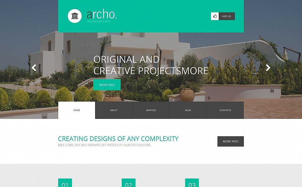 Szablon Moto CMS HTML #54754 na temat: architektura New Screenshots BIG