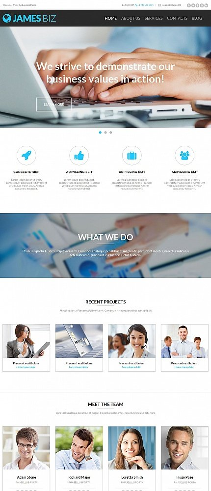ADOBE Photoshop Template 54756 Home Page Screenshot