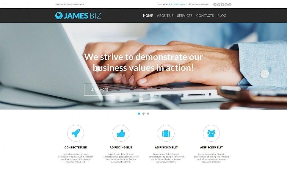 Plantilla Moto CMS HTML #54756 para Sitio de Negocio y Servicios New Screenshots BIG