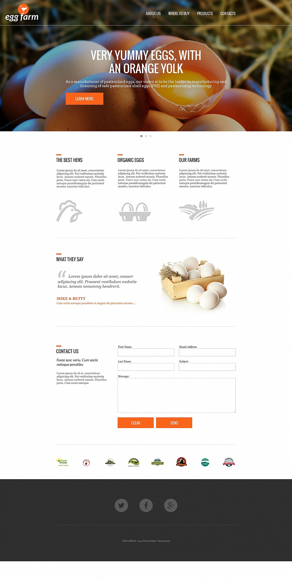 Web theme for egg factory