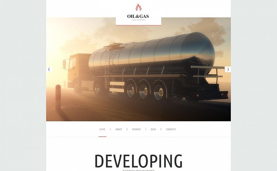 MotoCMS HTML шаблон на тему газ та нафта New Screenshots BIG