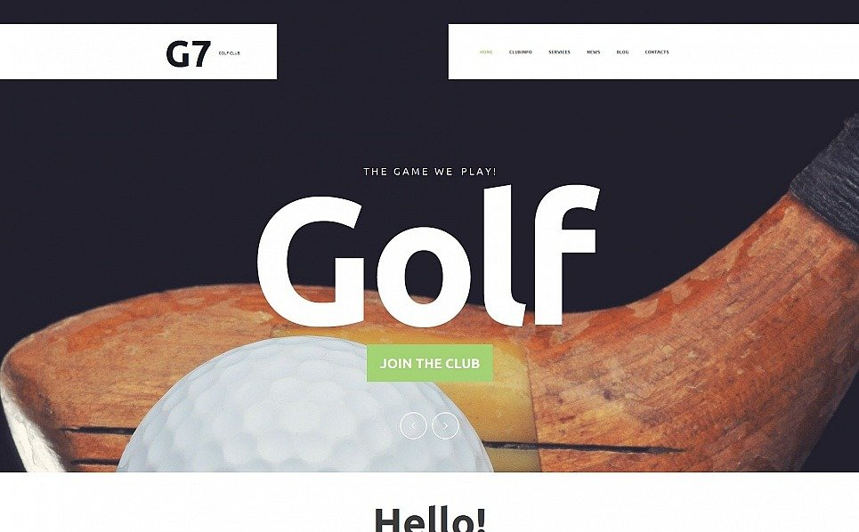 Prémium Golf Moto CMS HTML sablon New Screenshots BIG