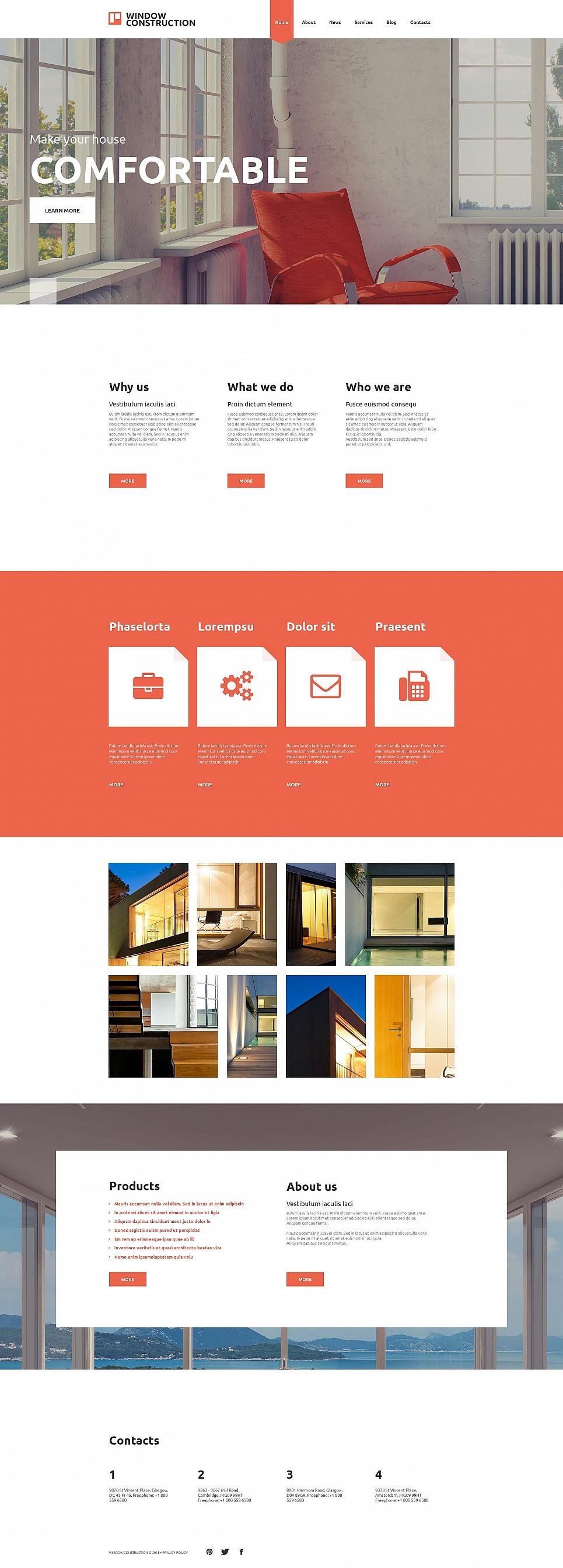 Windows manufacturing website design