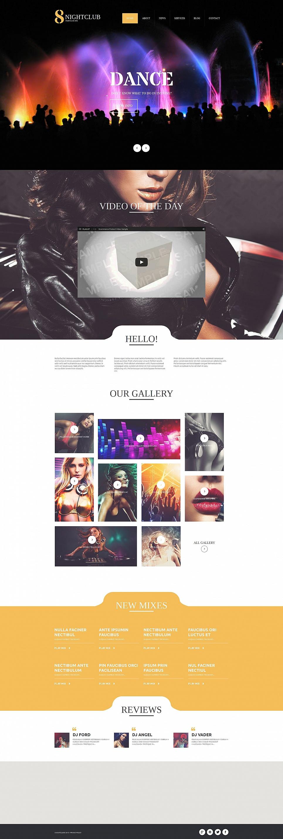 Dark nightclubbing website template