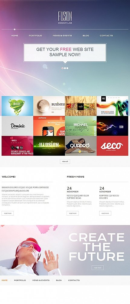 ADOBE Photoshop Template 54762 Home Page Screenshot