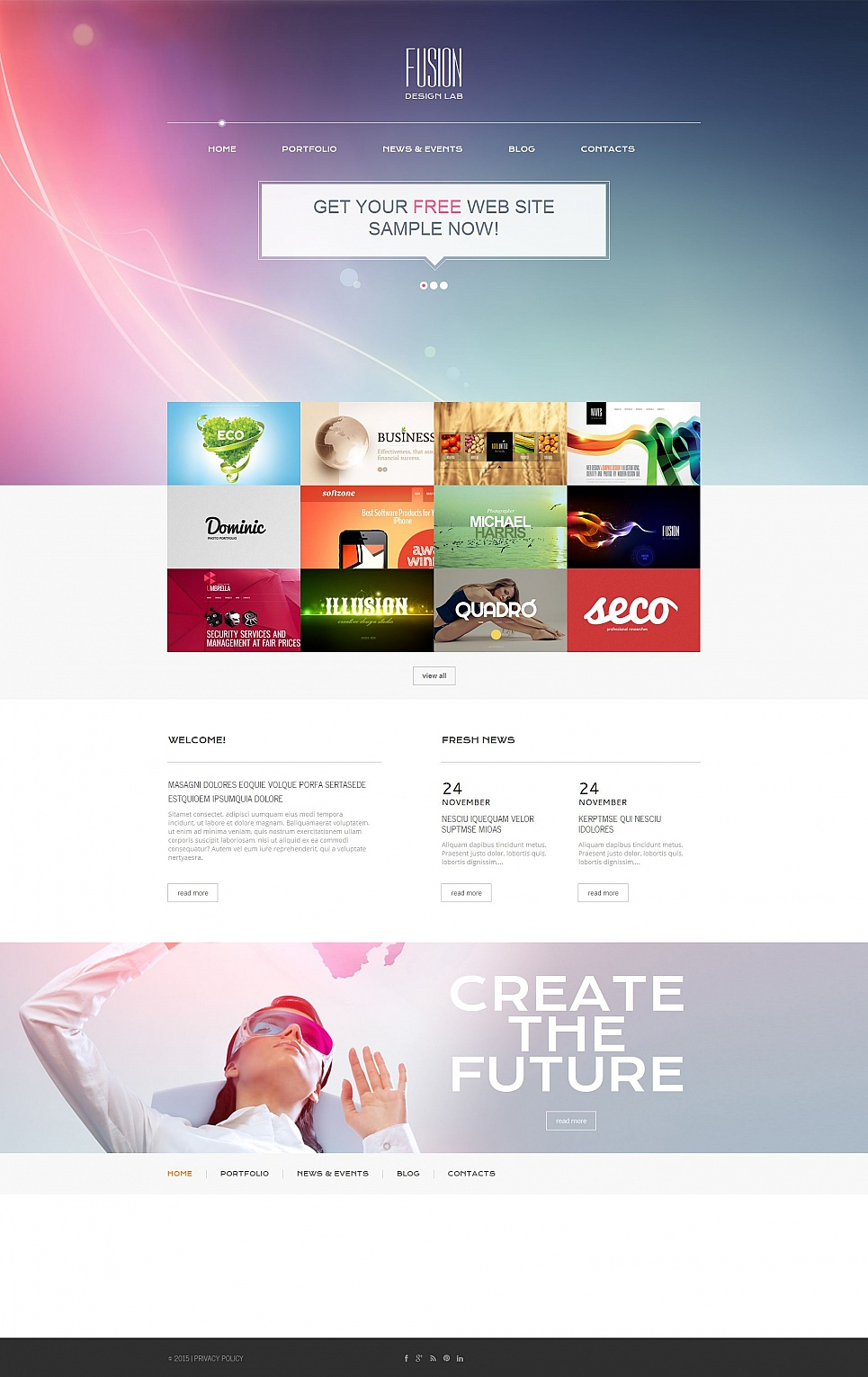 Website template for web design agency