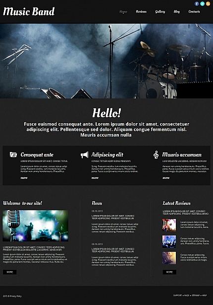 ADOBE Photoshop Template 54765 Home Page Screenshot