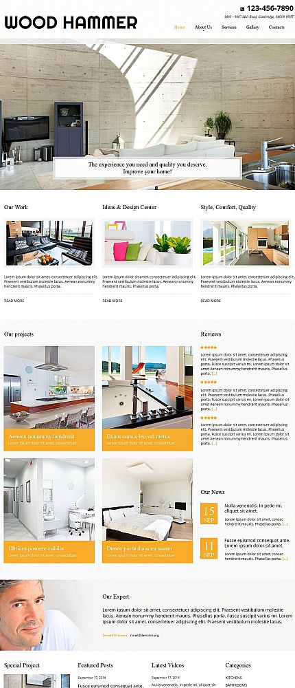 ADOBE Photoshop Template 54766 Home Page Screenshot