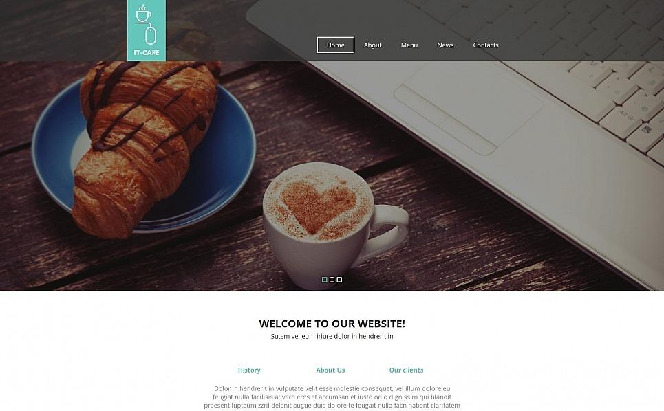 Modèle Moto CMS HTML  pour site de café New Screenshots BIG