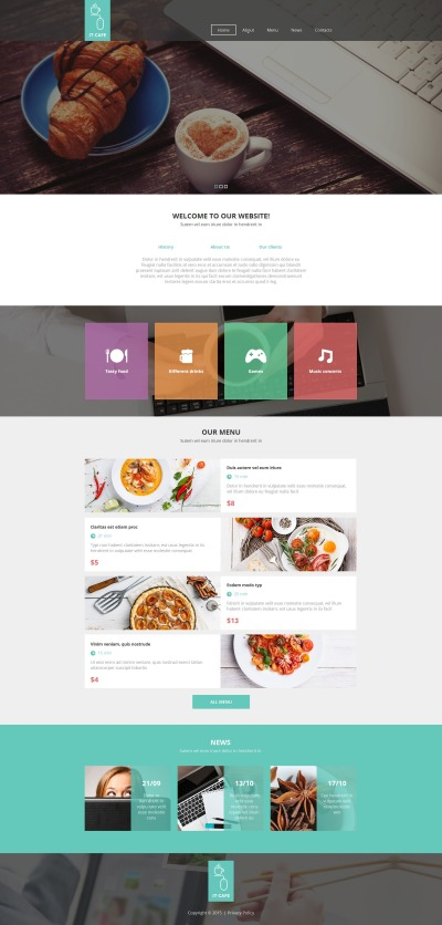 Café Moto CMS HTML-mall