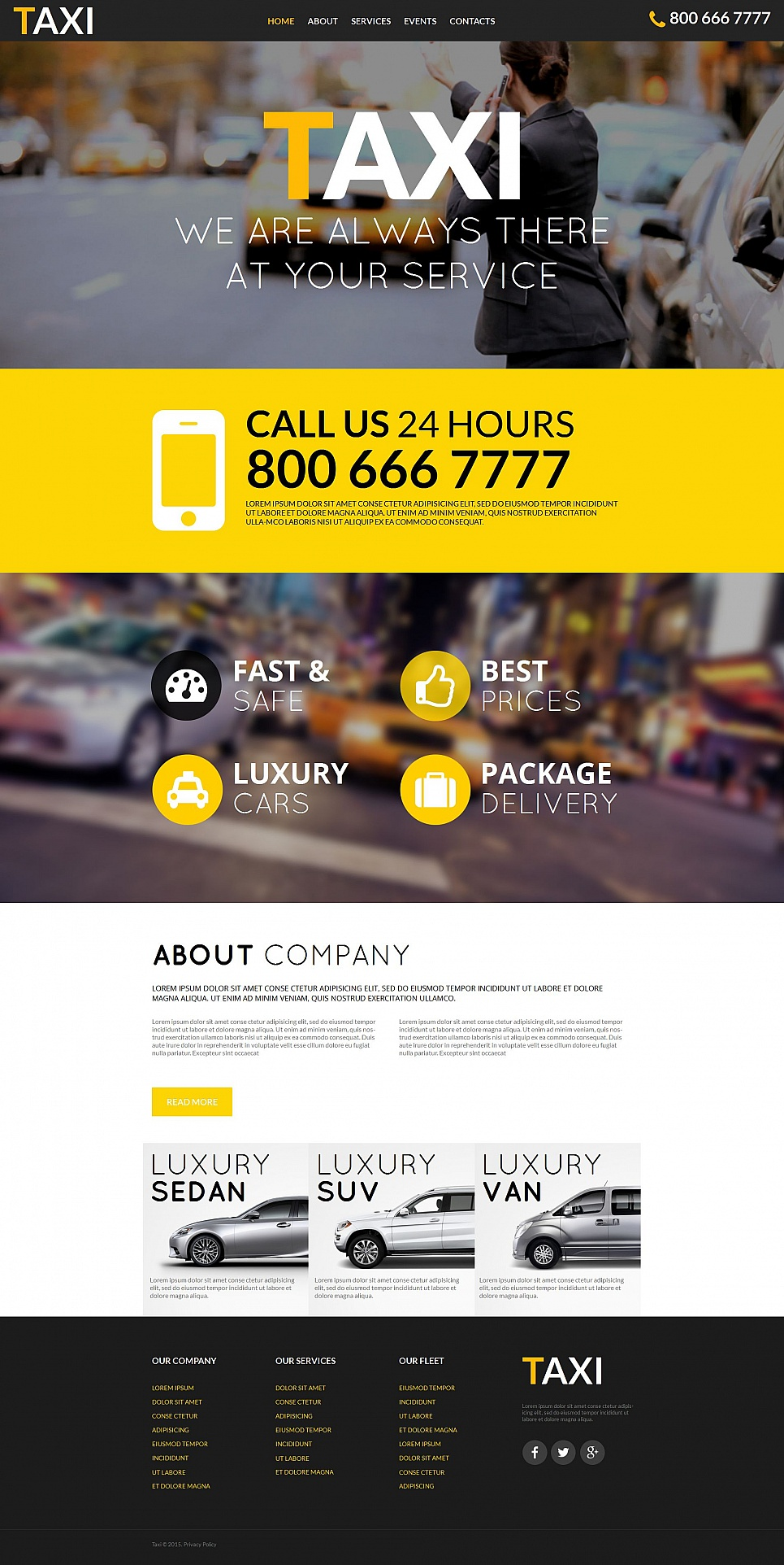 Website Design for Cab Company - image