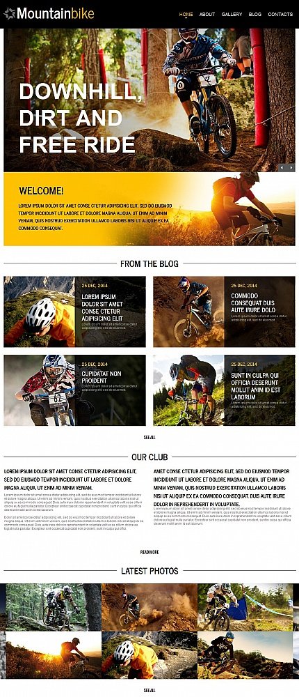 ADOBE Photoshop Template 54773 Home Page Screenshot