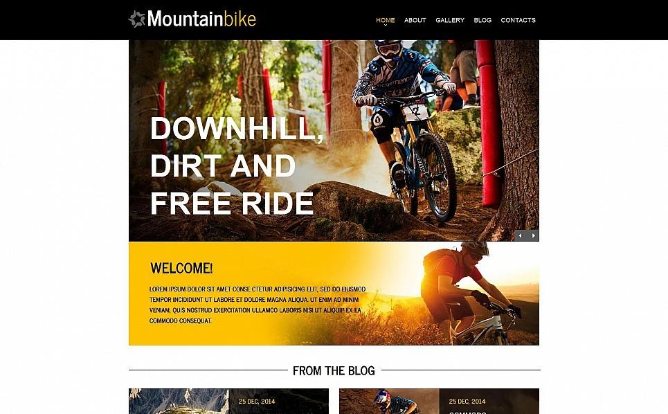 Prémium Kerékpározás Moto CMS HTML sablon New Screenshots BIG