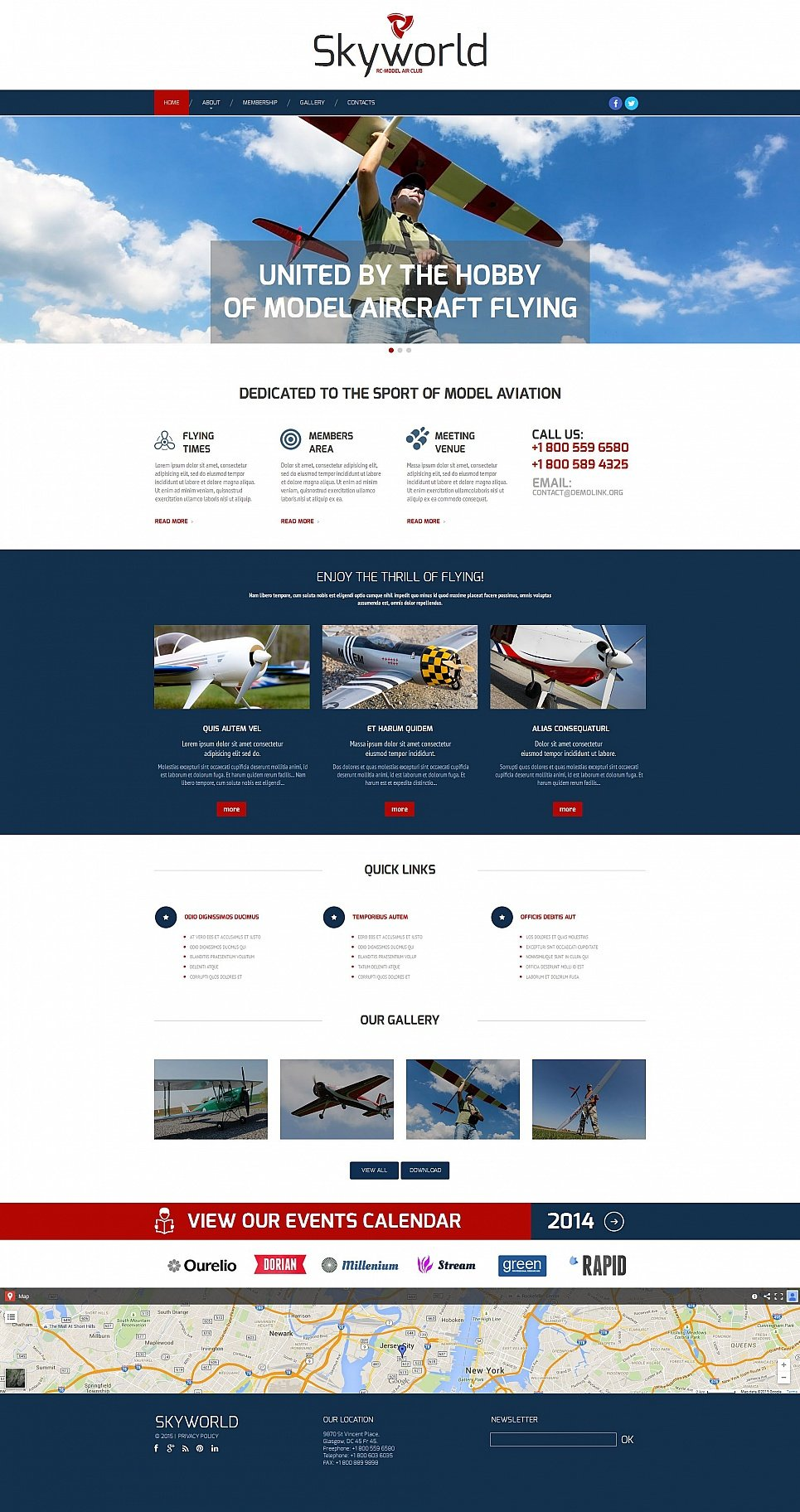 Aircraft Flying Website Template - image