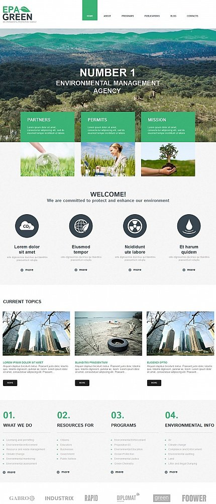 ADOBE Photoshop Template 54775 Home Page Screenshot