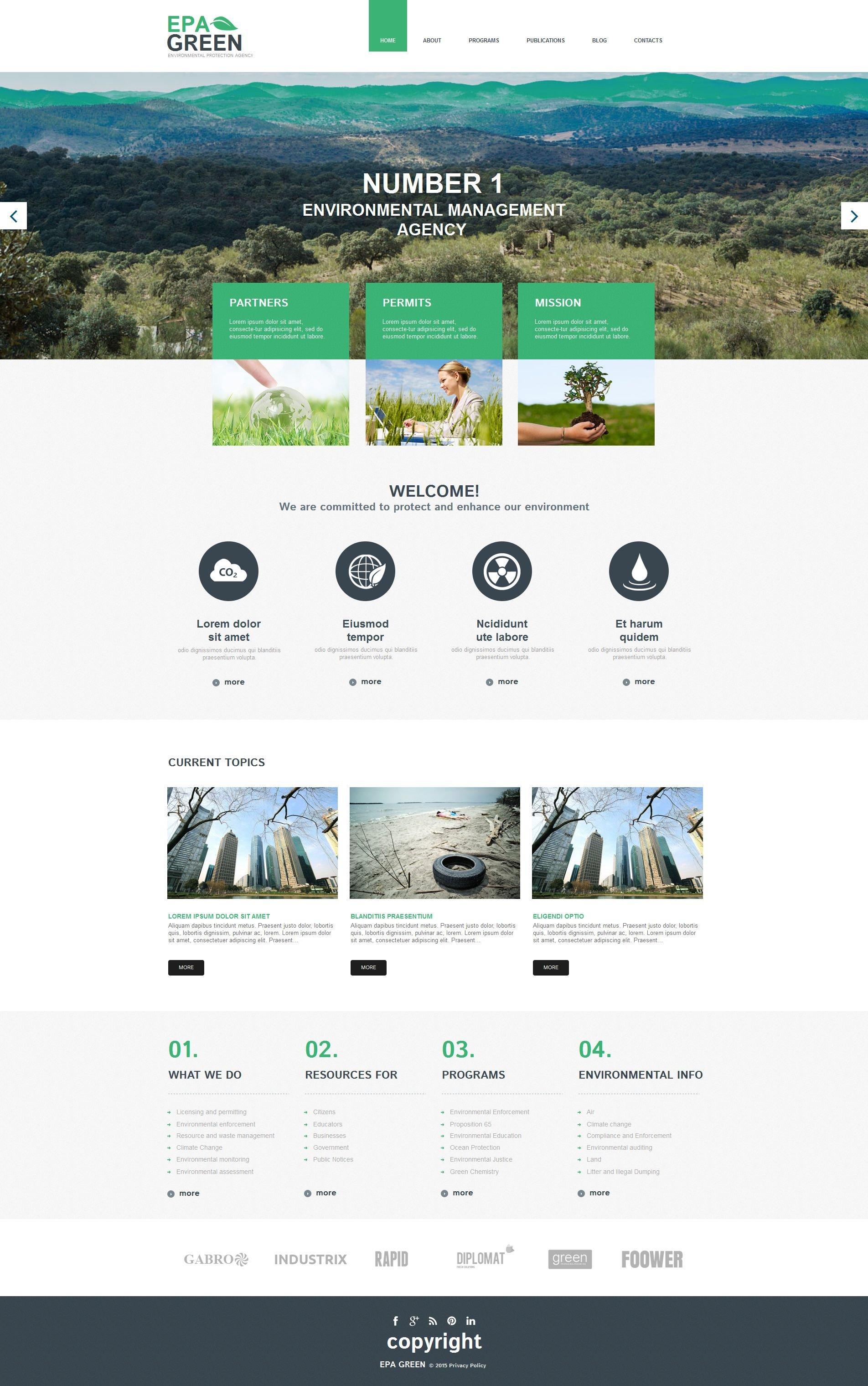 Best Epa Green Engroon Renewable Energy Moto CMS HTML Design