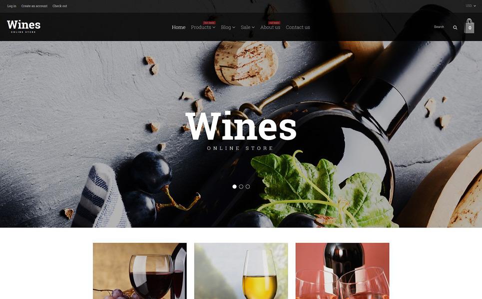 Responsive Şarapçılık  Shopify Teması New Screenshots BIG