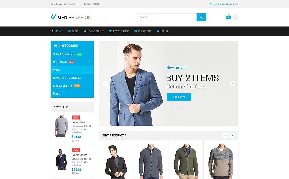 Адаптивний Magento шаблон на тему мода New Screenshots BIG