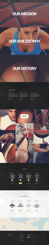 Адаптивный шаблон сайта на тему баскетбол #54731