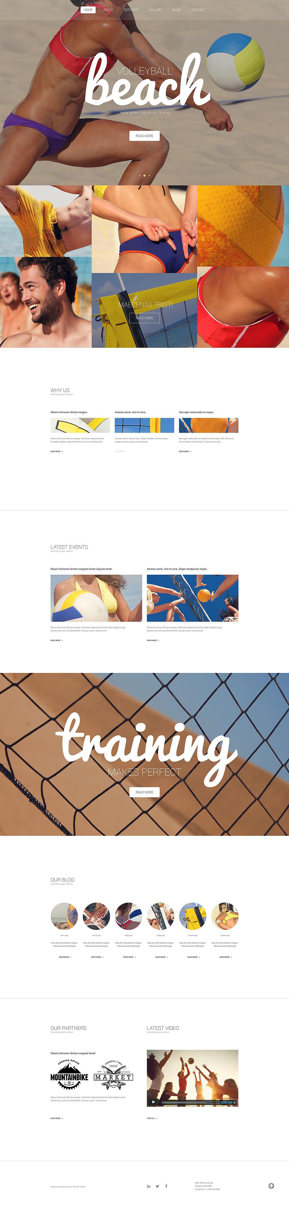 Адаптивный шаблон сайта на тему волейбол #54788