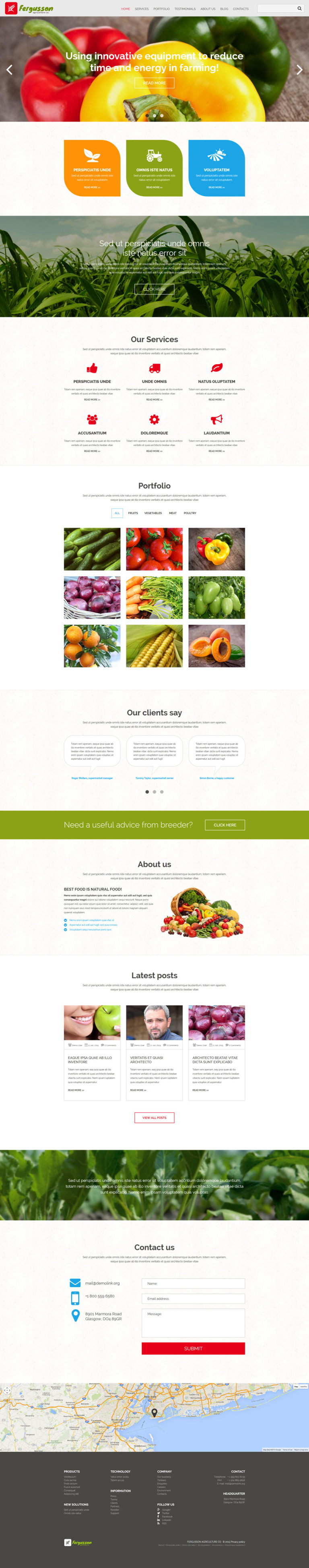 Agricultural Sector Joomla Template New Screenshots BIG