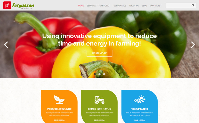 Agricultural Sector Joomla Template