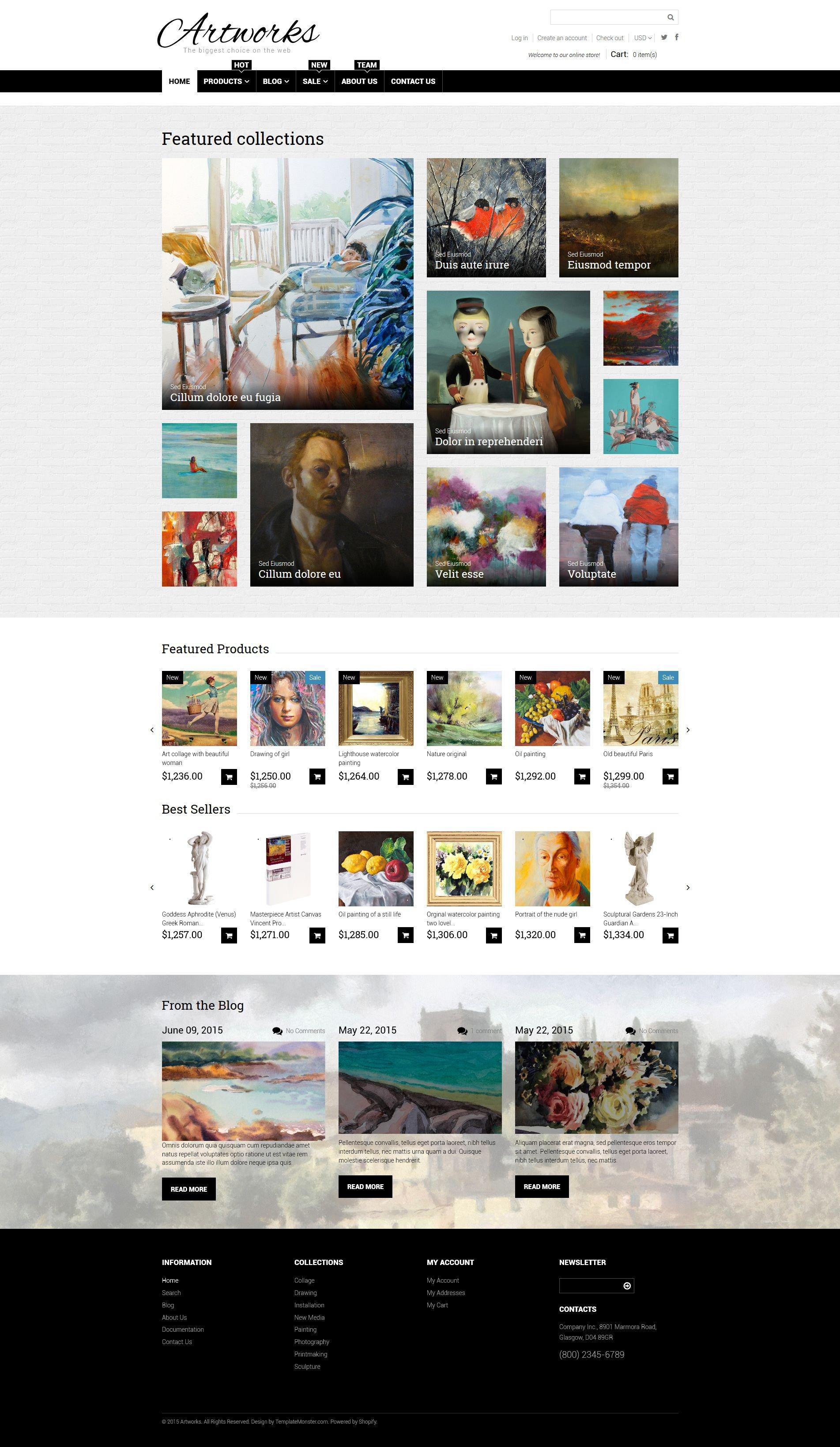 Art Responsive Shopify Theme - screenshot