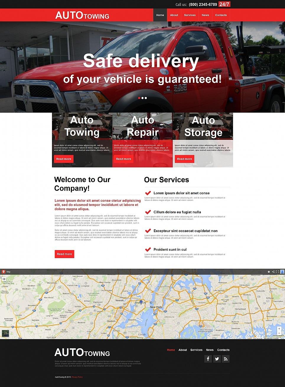 Auto Towing Moto CMS HTML Template New Screenshots BIG