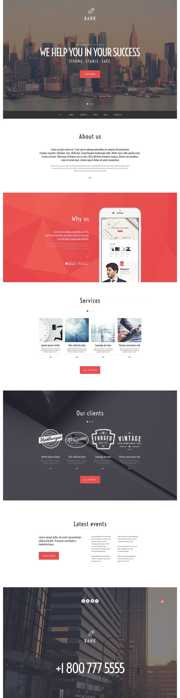 Bank WordPress Theme New Screenshots BIG