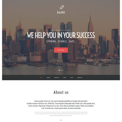 Bank - WordPress Template based on Bootstrap