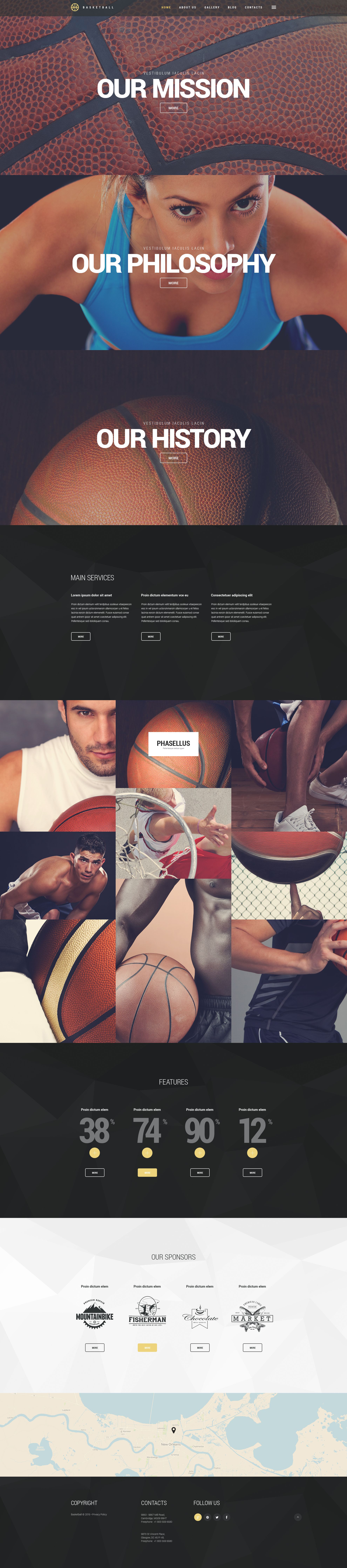 """Basketball Jam"" Responsive WordPress thema №54731"
