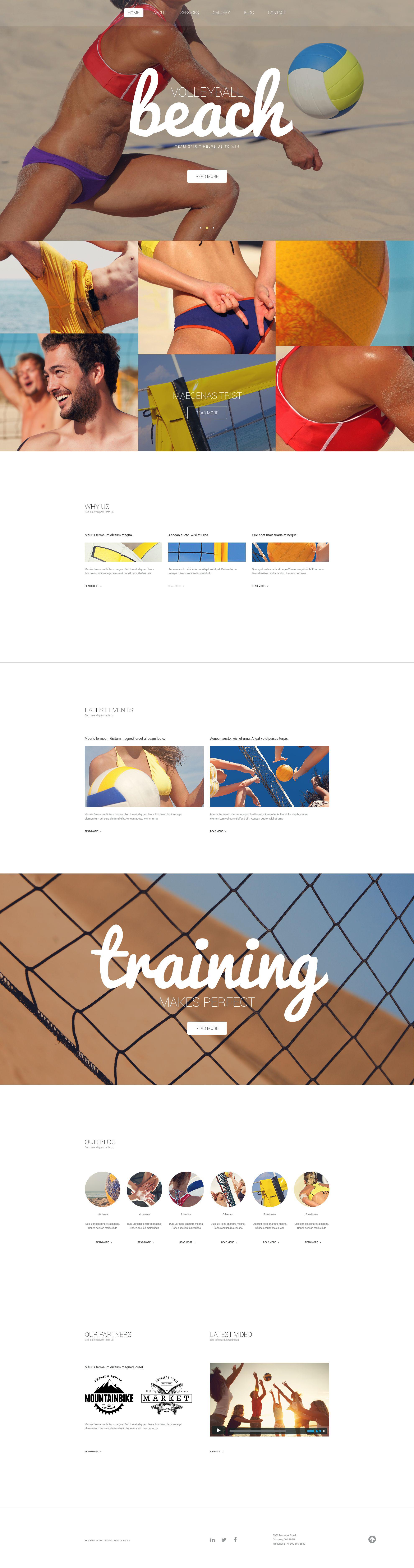 """Beach Volleyball Club"" Responsive WordPress thema №54788"