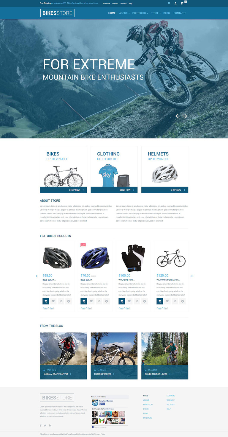 Bikes Store WooCommerce Theme New Screenshots BIG