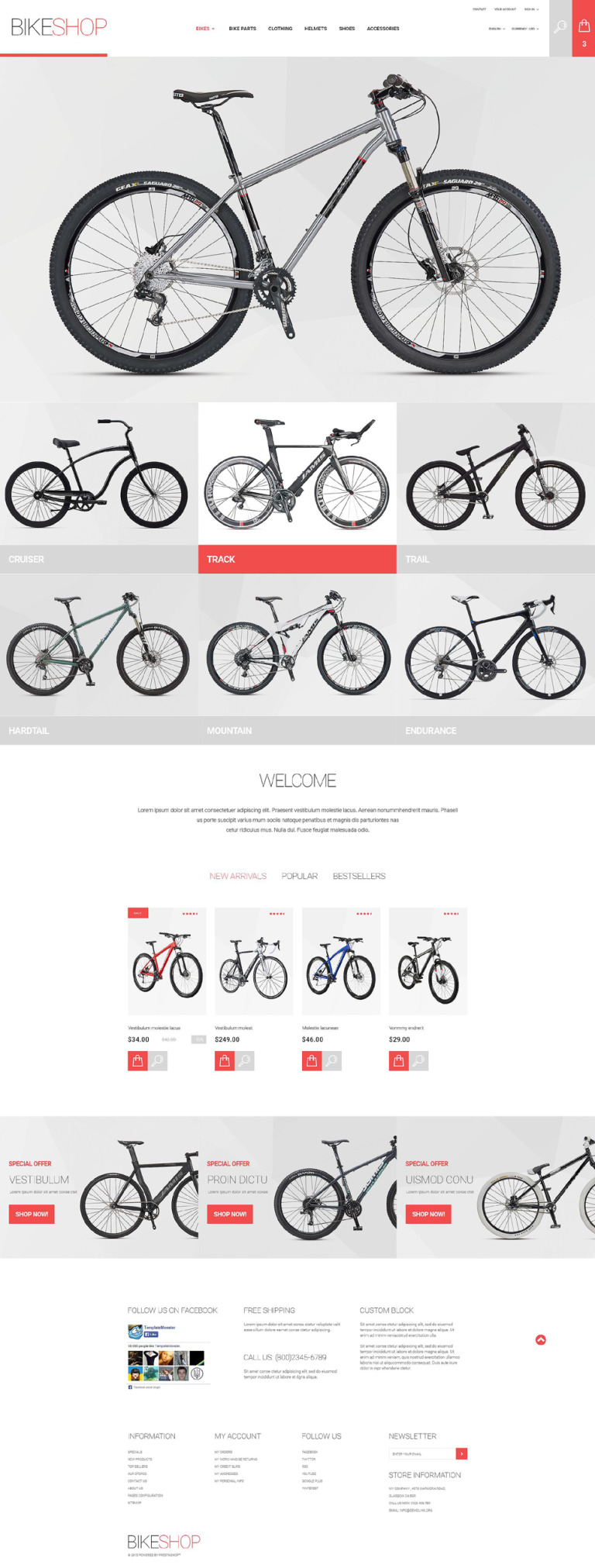 BikeShop PrestaShop Theme New Screenshots BIG