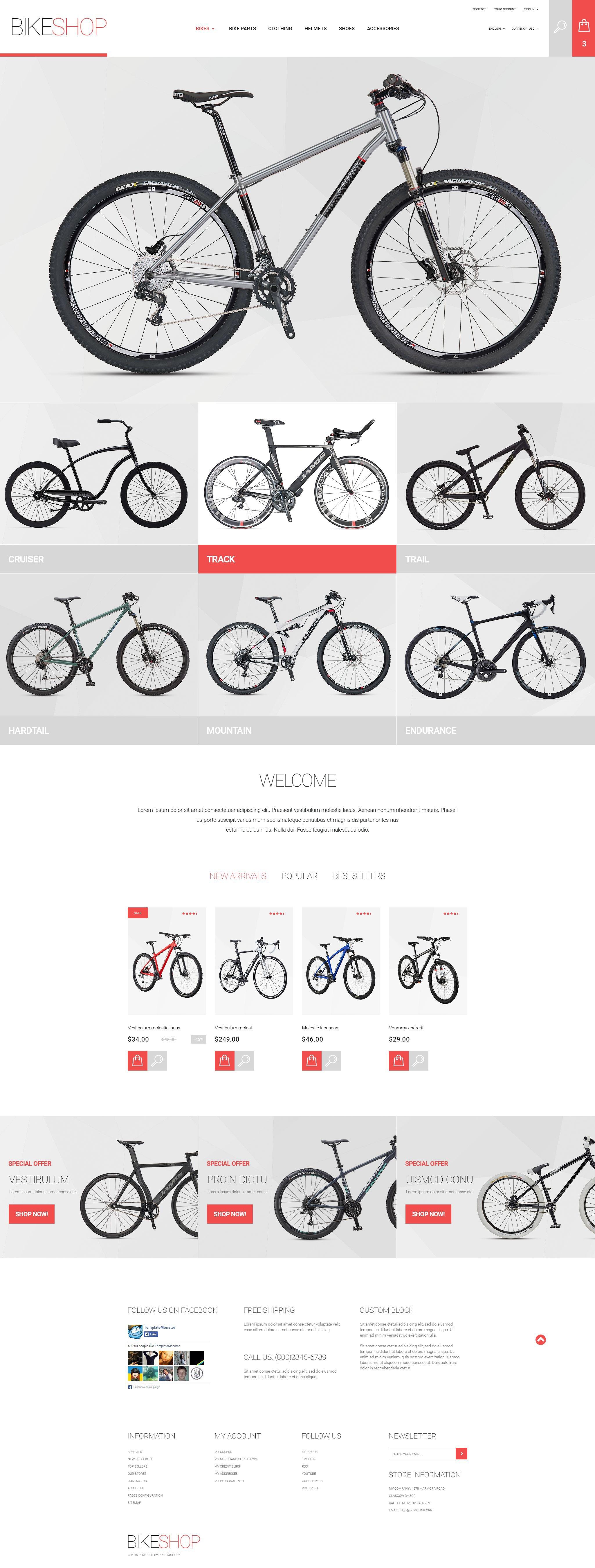 BikeShop PrestaShop Theme