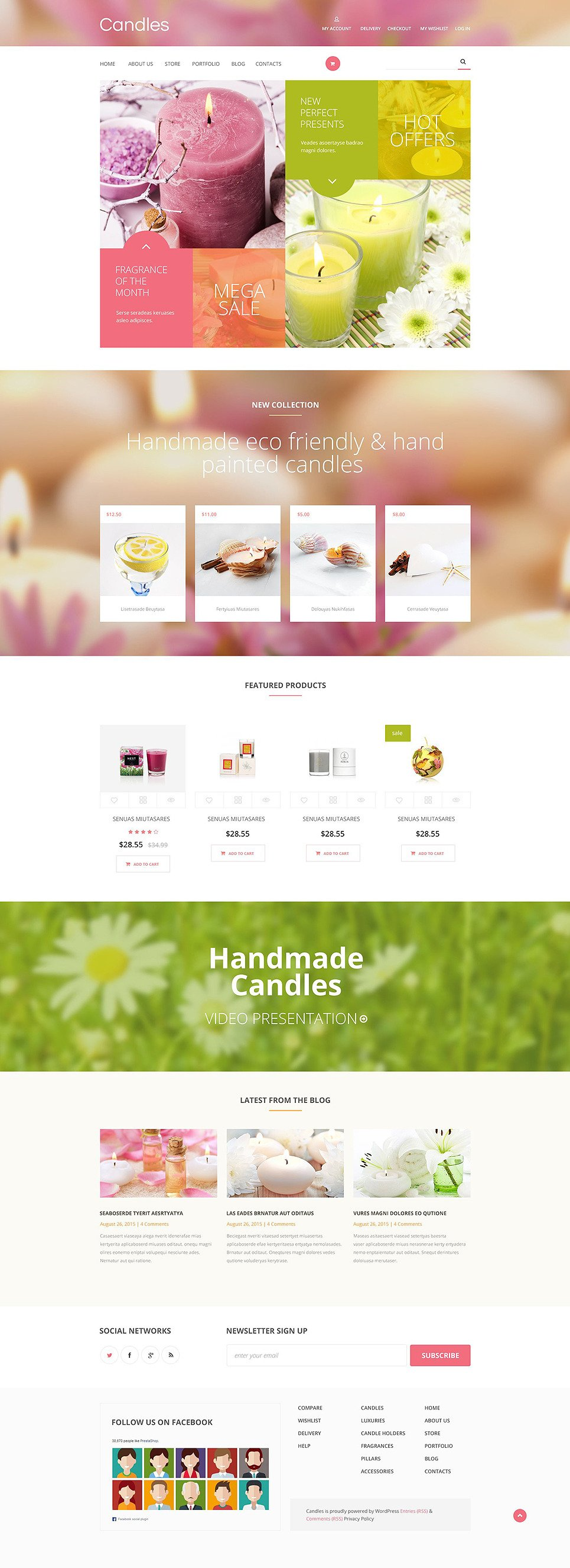 Candles WooCommerce Theme New Screenshots BIG