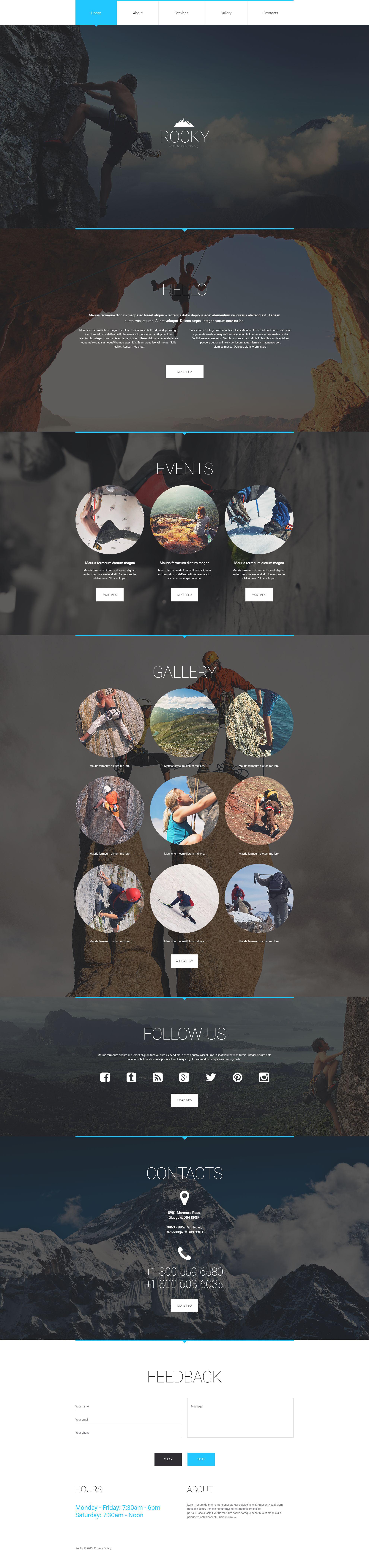Climbing Responsive Website Template - screenshot