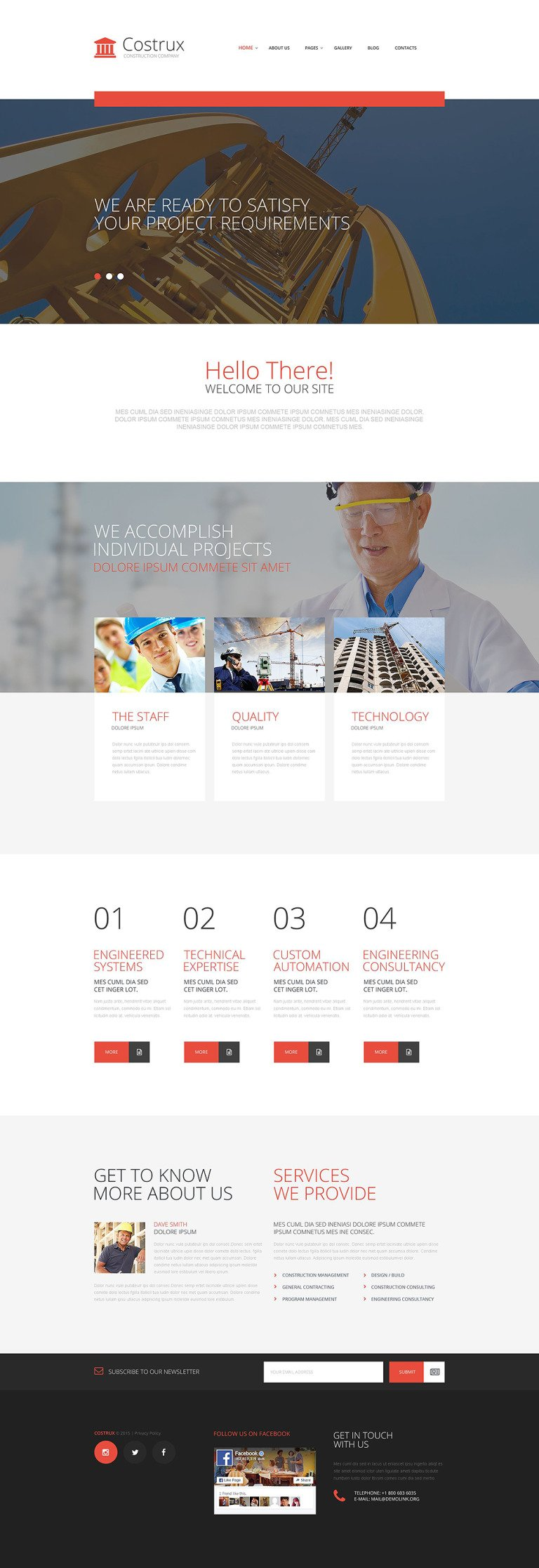 Costrux Joomla Template New Screenshots BIG