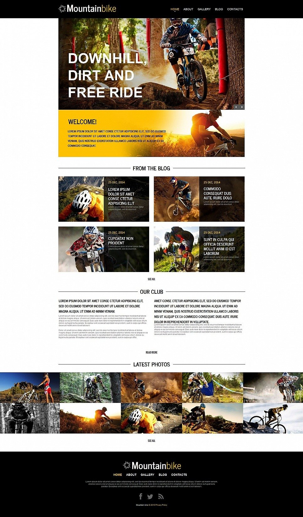 Cycling Moto CMS HTML Template New Screenshots BIG