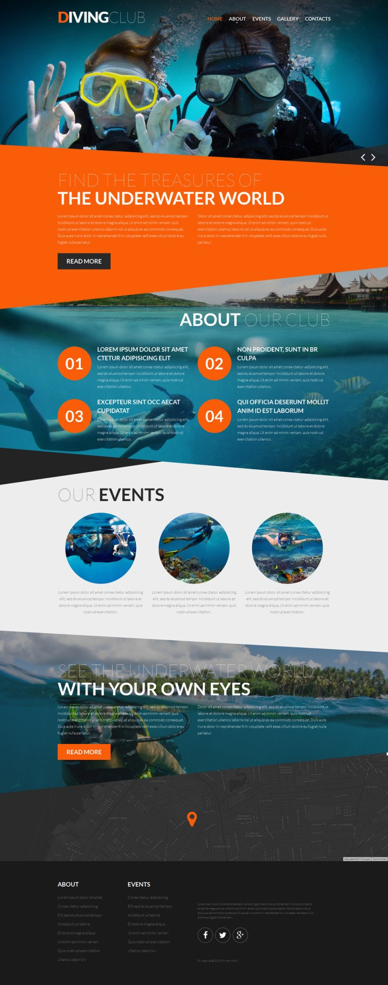 Diving Responsive Website Template New Screenshots BIG
