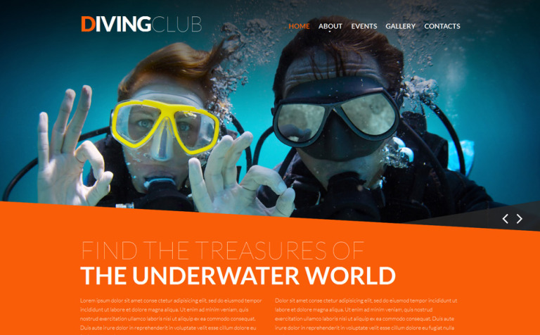 Diving Responsive Website Template