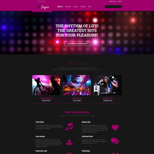 DJ Sugar - WordPress Template based on Bootstrap