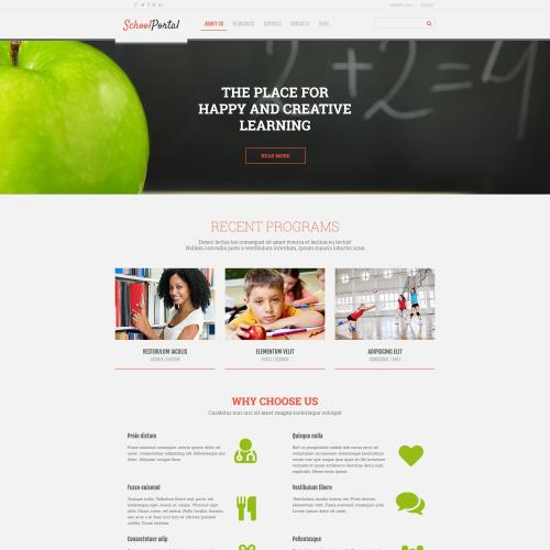 School Portal - WordPress Template based on Bootstrap