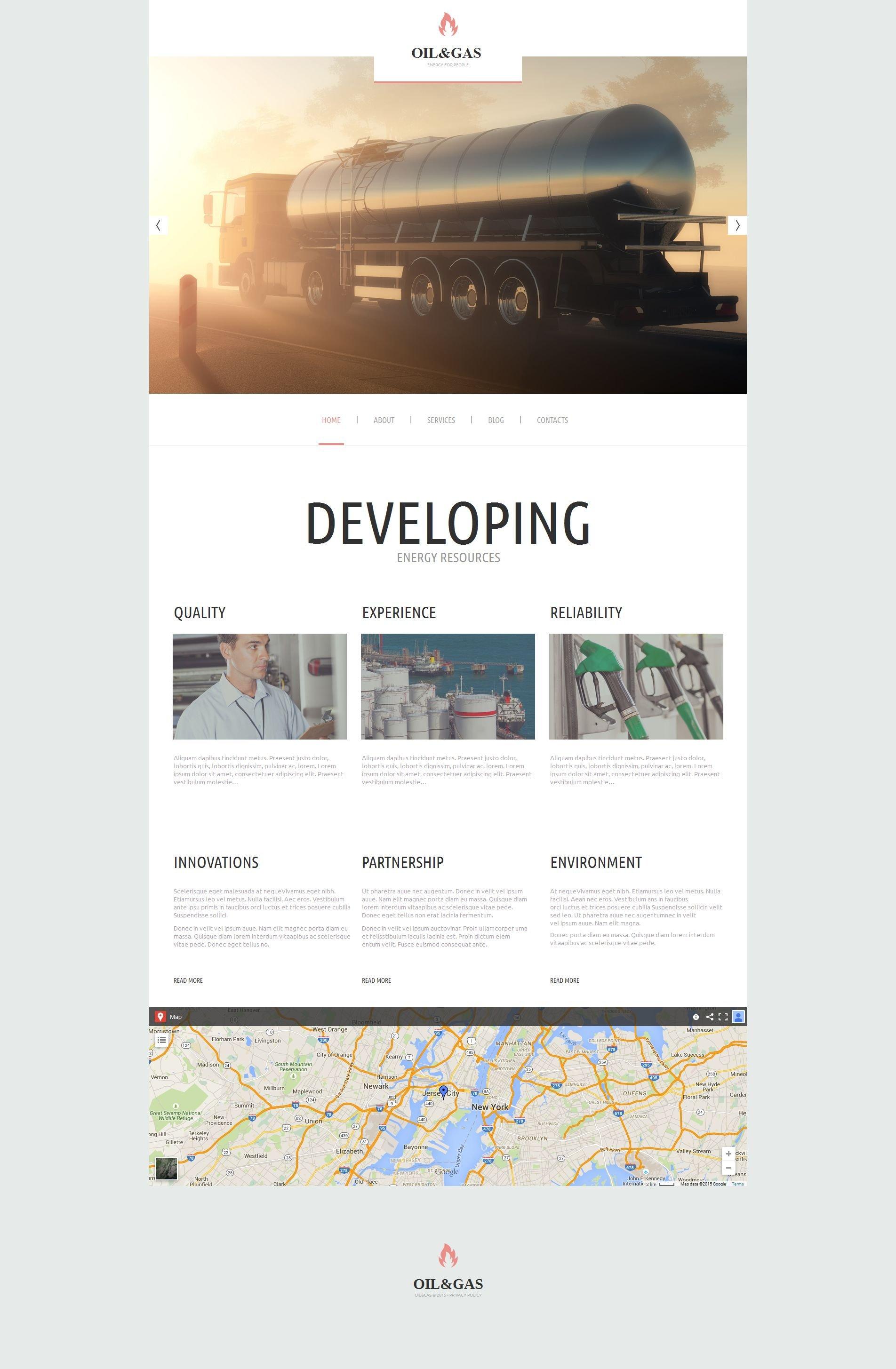Gas & Oil Moto CMS HTML Template
