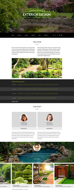 """Green Planet - Exterior Design Responsive Modern"" - адаптивний Joomla шаблон №54710 - скріншот"