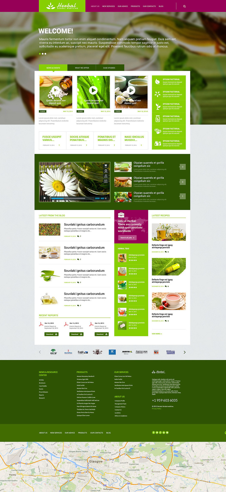 Herbal Responsive WordPress Theme New Screenshots BIG