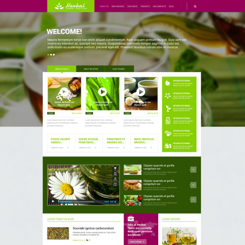 Herbal - WordPress Template based on Bootstrap